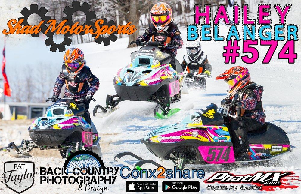 Hailey Belanger - Shad Motorsports - 120cc Snowcross