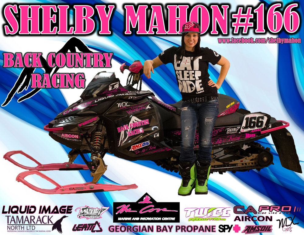 It all started with Shelby Mahon and her racing career. What started out as her designing her own posters and sponsorship decks turned into a passion and a business.