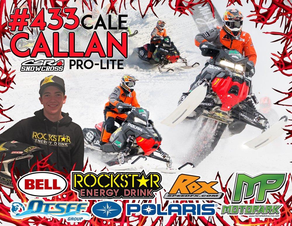 Cale Callan #433 Pro-Lite CSRA Snowcross