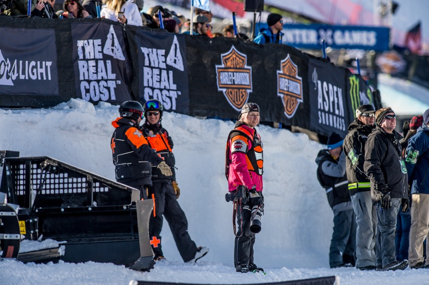 Shelby at Winter X Games 2017 (Photo by Wayne Davis)