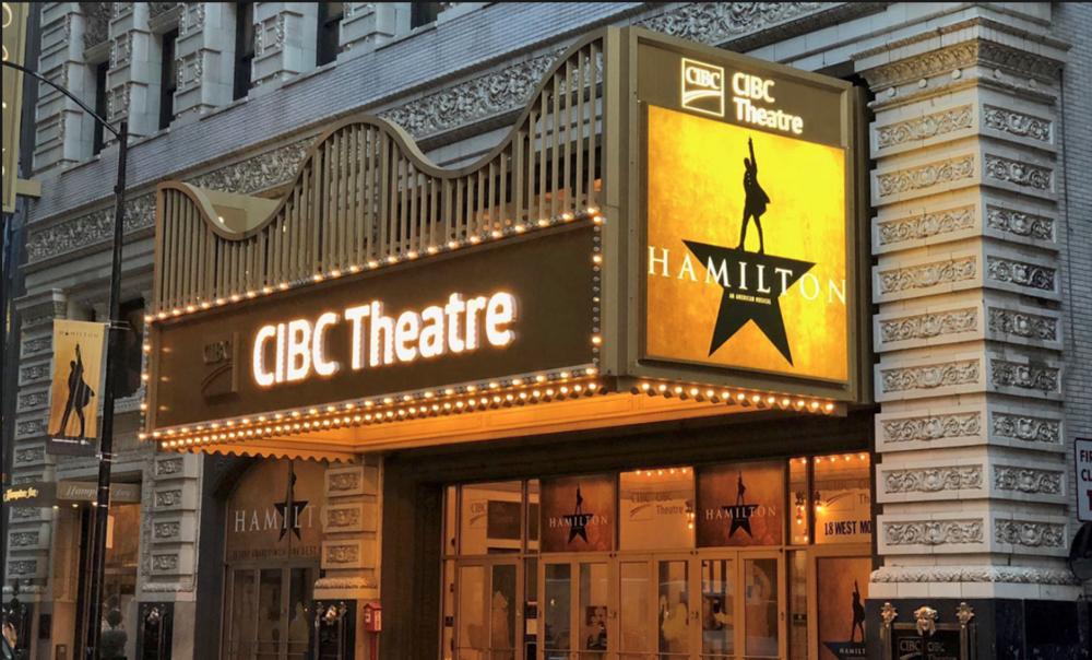 Theatre naming rights partnership between CIBC and Broadway In Chicago