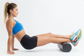 Calf Foam Roll    Why : Knotted calf muscles are less effective shock absorbers   How : Sit on the floor and place a foam roller under the calf of an outstretched leg. Roll your calf over the roller, and if you find a painful spot, hang out there and press into the roller allowing it to ease (30-90sec).