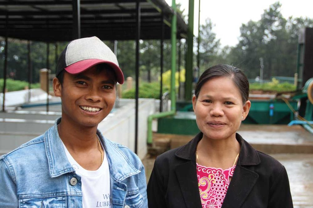 POWER COUPLE: Mya Mya Aye (left) and Myo Thet Htun work for the Mandalay Coffee Group.