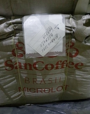 A photo of our coffee in a high barrier big-bag awaiting export.