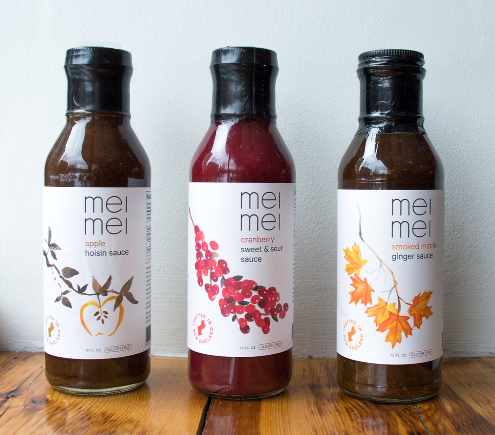 New England Chinese Gluten-Free Sauces - The ubiquity of wheat-brewed soy sauce poses a challenge to gluten-free Chinese food lovers – a challenge accepted by the siblings behind Mei Mei, the family-owned Boston food truck and restaurant. Mei Mei's gluten-free specialty sauces blend New England ingredients (apples, cranberries, maple syrup) into hoisin, sweet and sour, and ginger sauces.