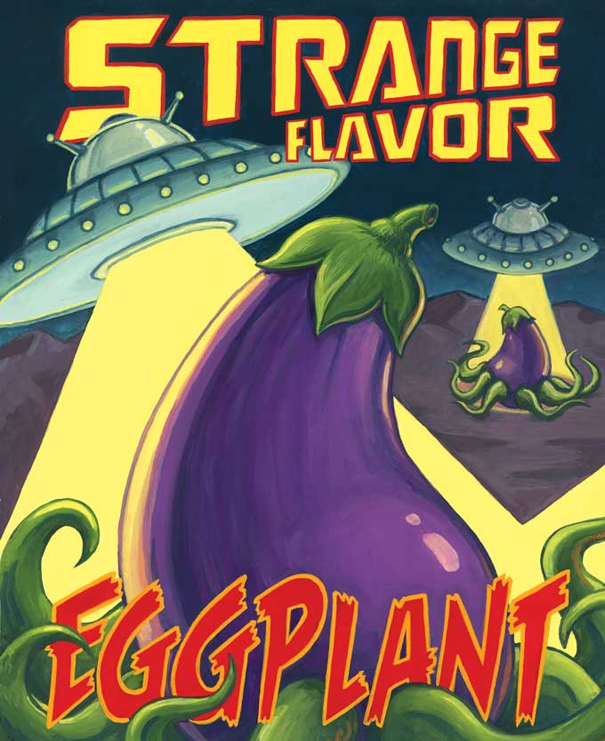 """Strange Flavor Eggplant,"" Erik Bruner-Yang & Pichet Ong. Illustrated by Johnny Acurso."
