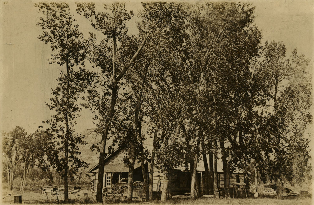 This photo of the Elkhorn Ranch cabin was taken by Theodore Roosevelt during his sojourn in Dakota Territory. The TRPLF is building a replica of the cabin on the TR Presidential Library site.