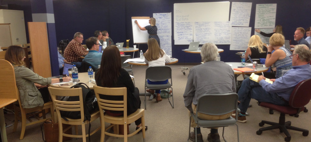 A day of discussion and planning meetings in Dickinson concluded the immersion visit for TRPLF consultants and staff.