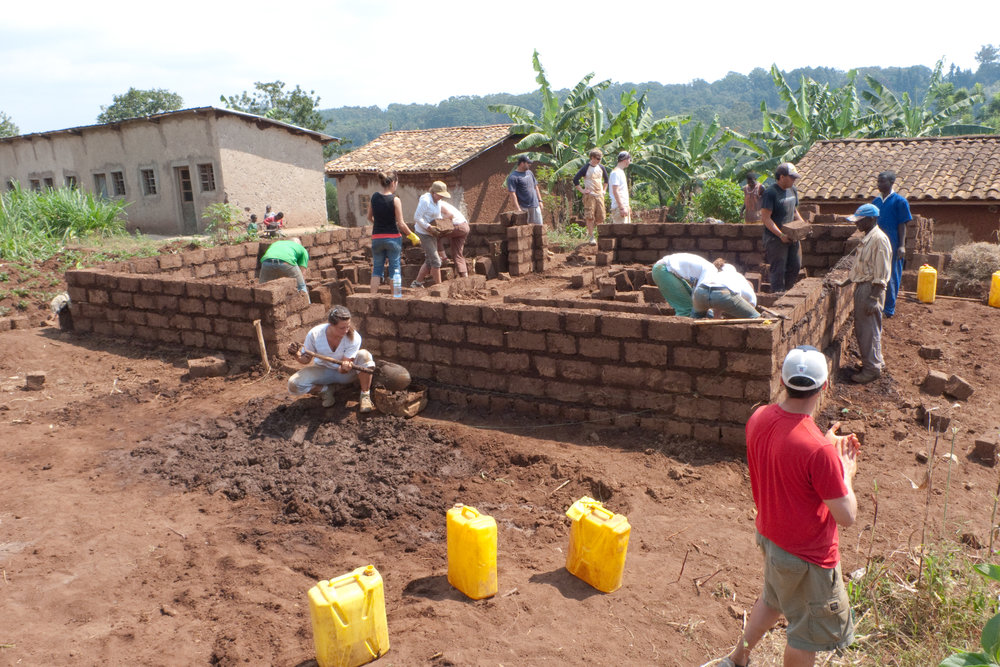 Building a house for widow in Butare, Rwanda