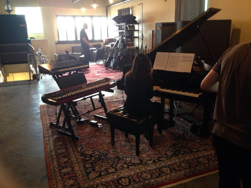 Zerlina in the studio recording for Josh Linsky's album