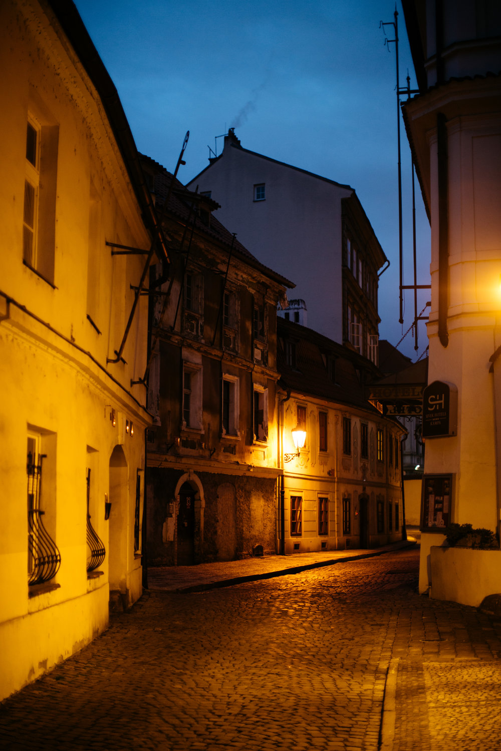 Evening walks on Czech cobblestone pathways...