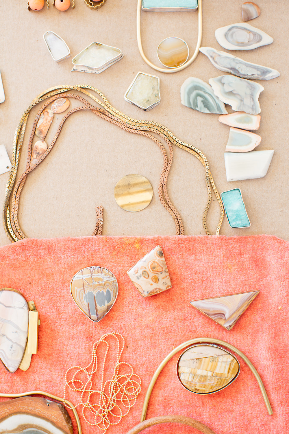 These pieces consume the time, thought, energy and one-of-a-kind creative talent of Bri Mcgrew. She is the owner and craftswoman behind  The Universe Conspires.  She waits until the light is just right in her studio, she lays pieces out and moves them around, she solders them together and when you wear them, everything looks prettier. They're statement pieces and they're a little bit spendy but they're worth every penny.  Ladyfingers Letterpress  (for all of the winning) is her sole retailer right now.   Image courtesy of  The Locals Bureau.