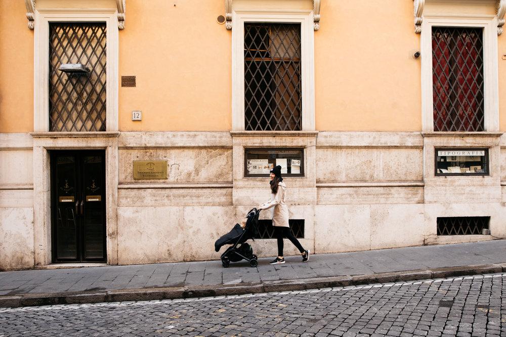 Colugo Stroller - Rome, Italy - Fortitude and Finn