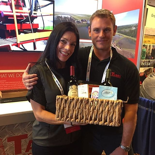 Trade show winner #onehappygirl #winetime
