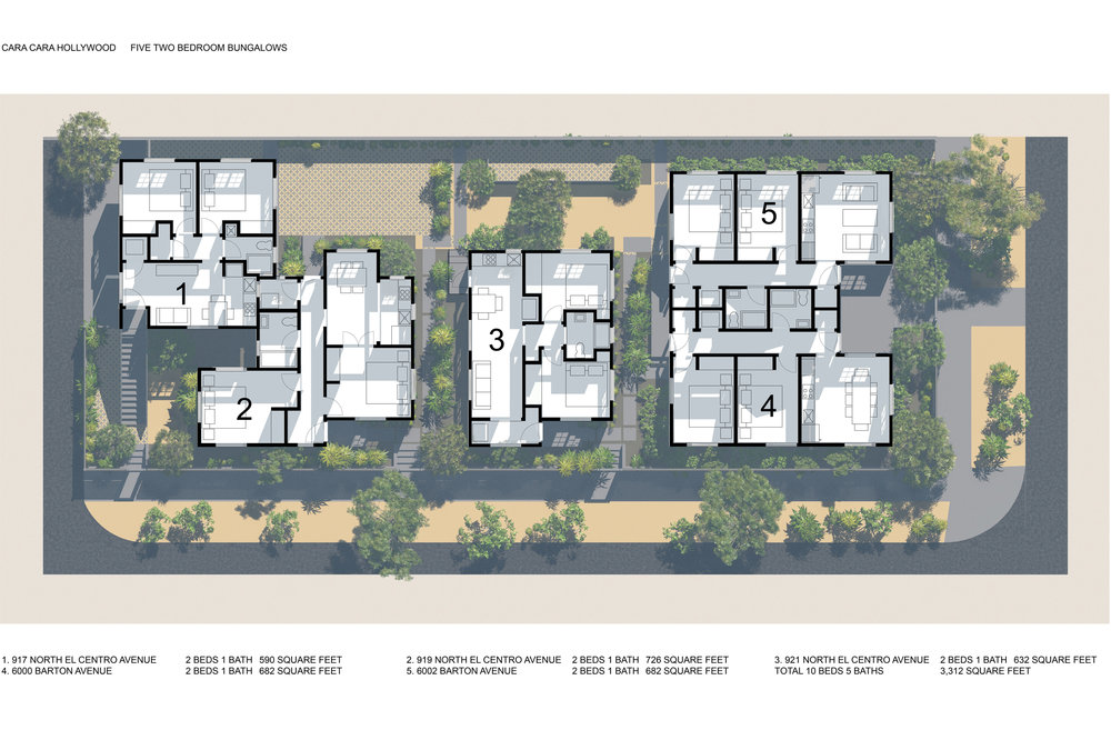 Drawings Cara Cara Hollywood – Rendered Site Plan