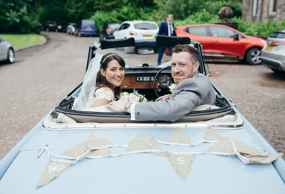 Wedding convertable car