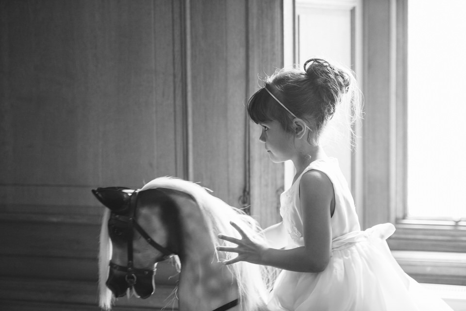 Flower girl rocking horse
