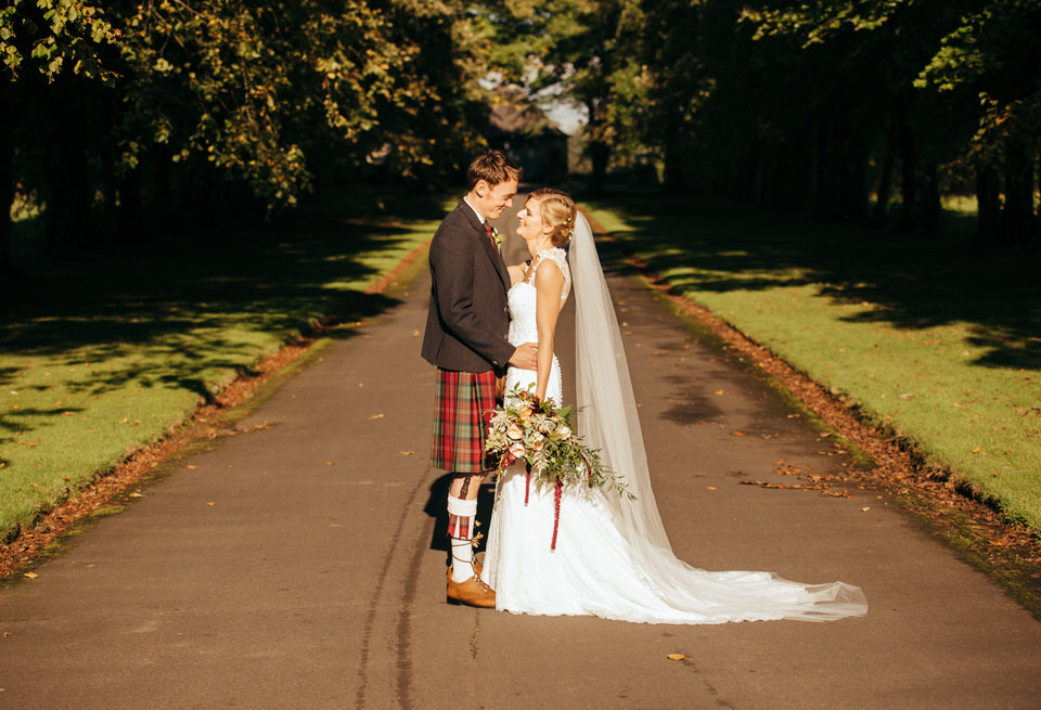 Wedding portraits Rowallan Castle