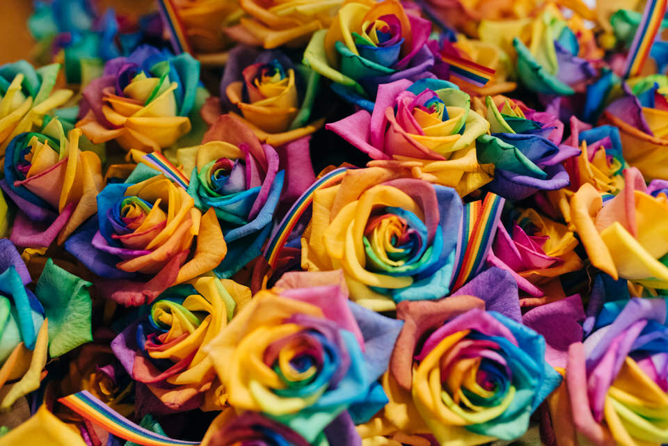 Rainbow Flowers Civil Partnership
