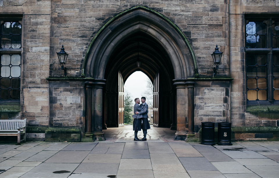 Civil partnership portraits Scotland