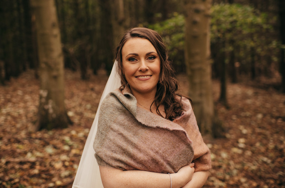 Bride winter wedding shawl