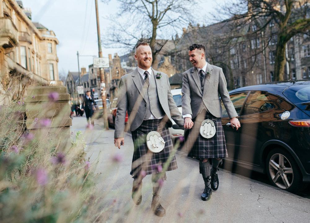 Same sex wedding photographer Scotland