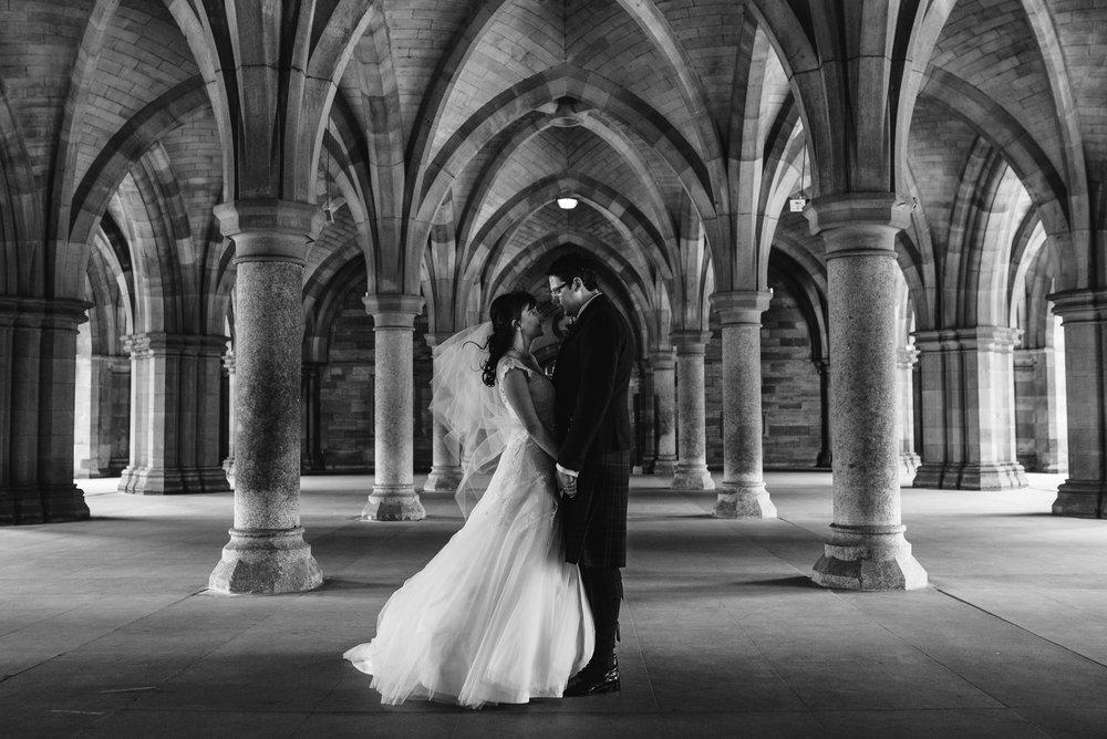 Glasgow University Cloisters Wedding