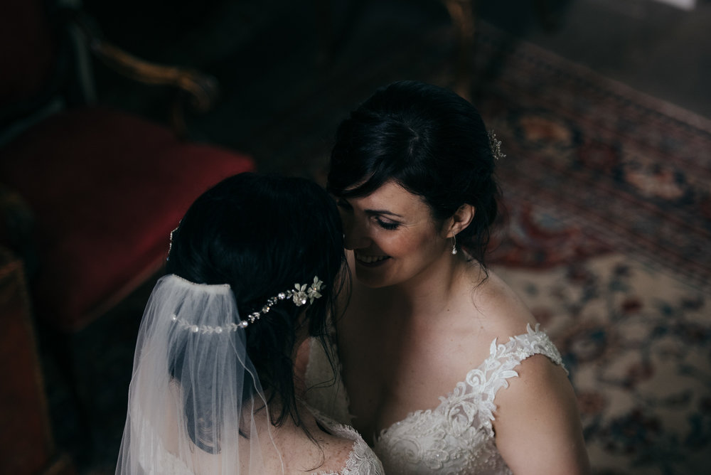 Same sex wedding Byre at Inchyra