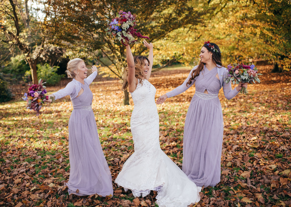 Jewish wedding bridesmaids Scotland