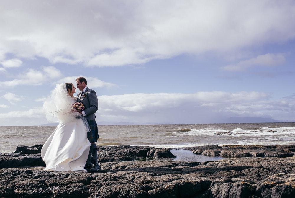 Seaside wedding Scotland