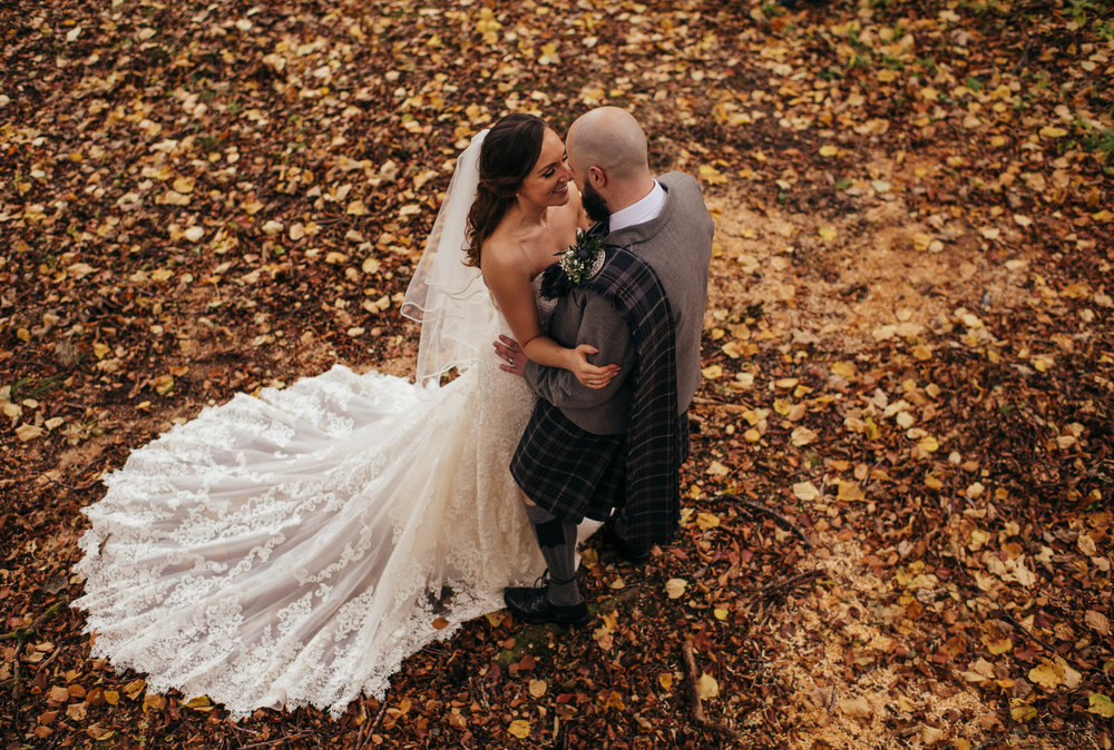 Woodland wedding Scotland