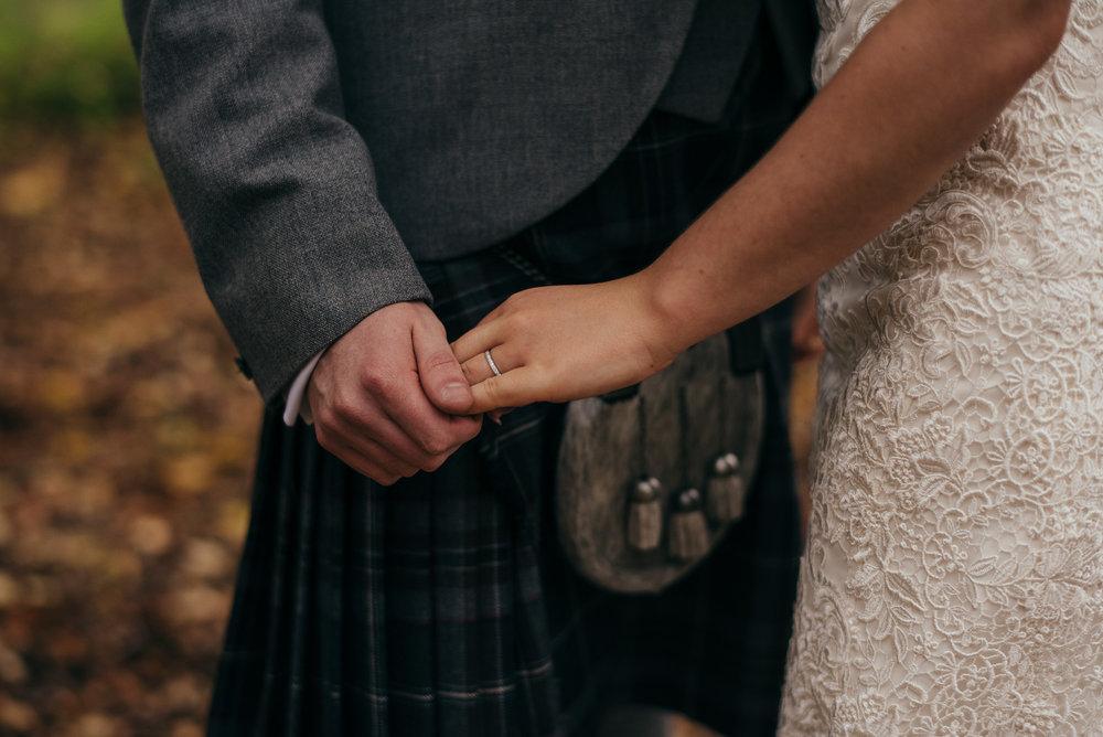 Natural Scottish wedding photographer