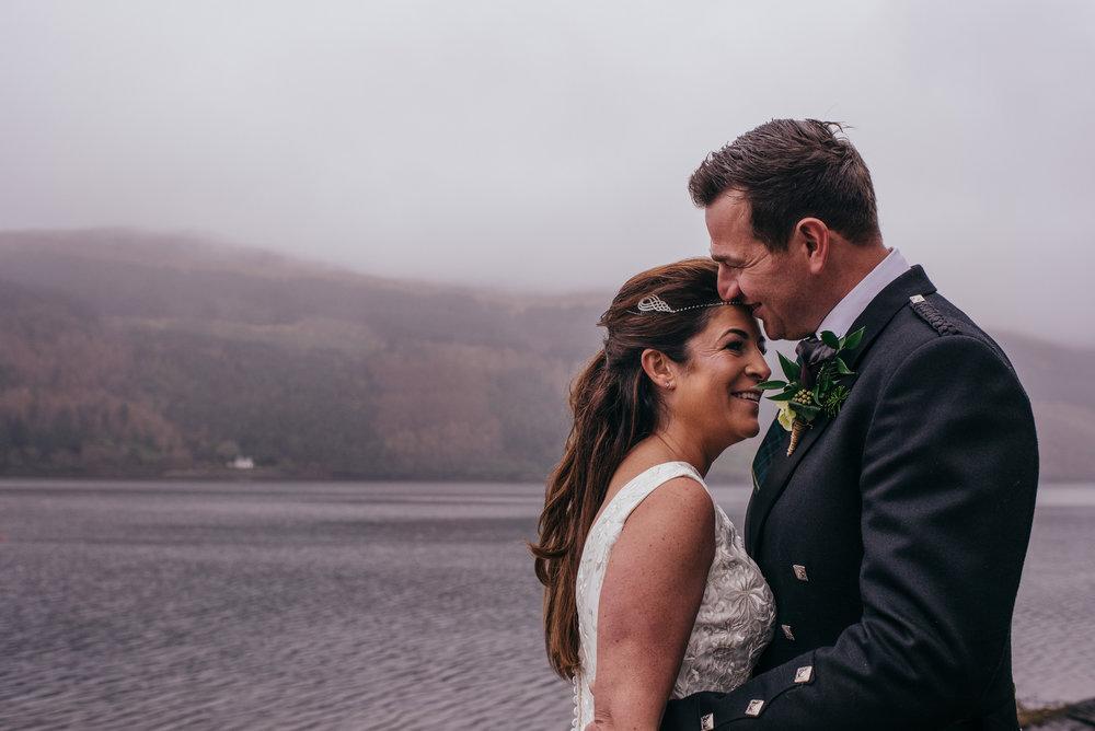 Lodge on Loch Goil Wedding