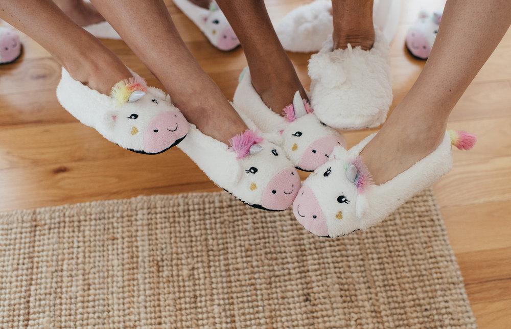 Wedding unicorn slippers