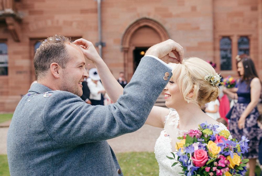 wedding confetti mount stuart