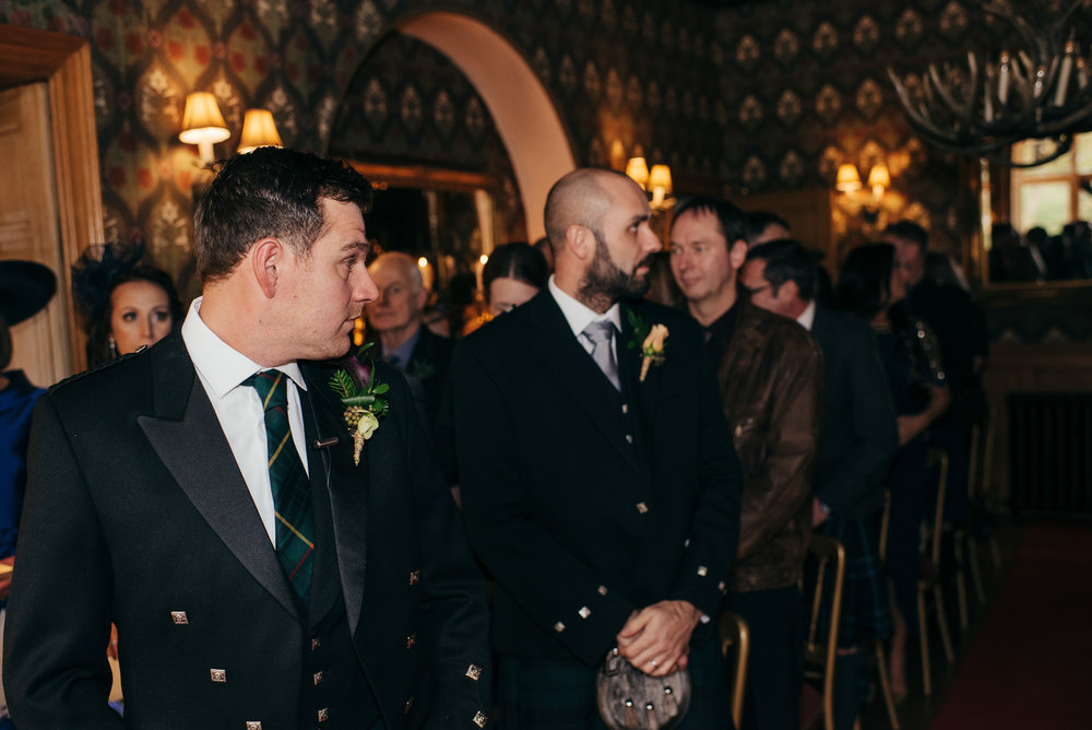 Groom reaction wedding Scotland