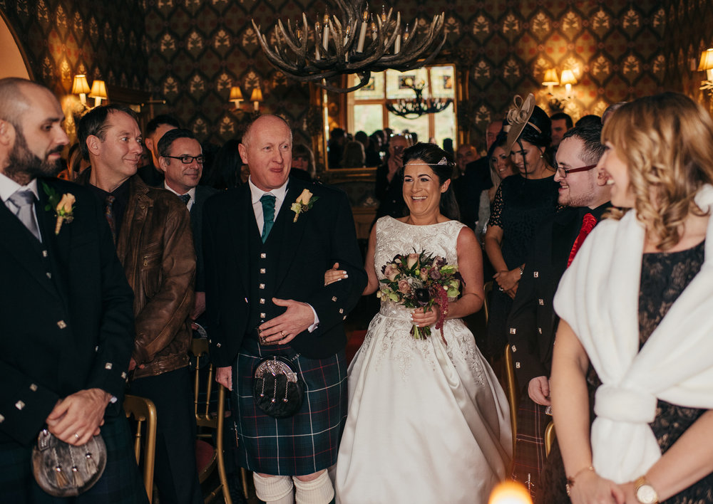 Wedding ceremony at The Lodge on Loch Goil