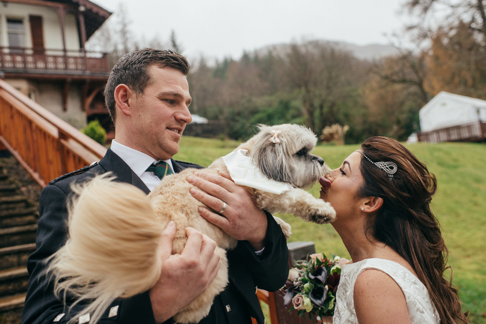 Lodge on Loch Goil - Scottish Wedding Photographer