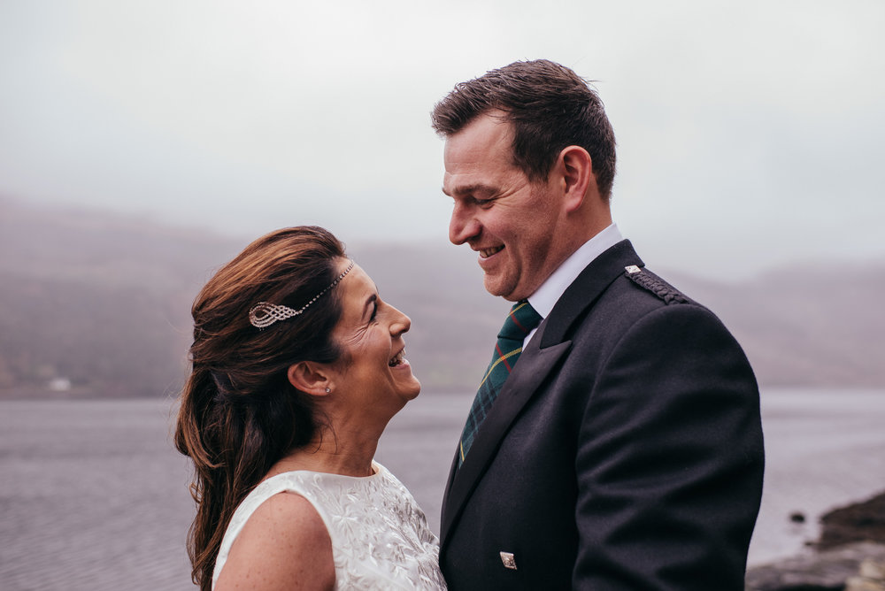 Wedding portraits The Lodge on Loch Goil