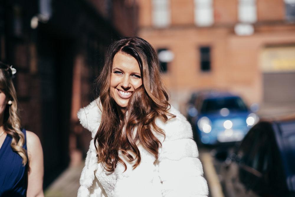 Bride arrival Arta Glasgow