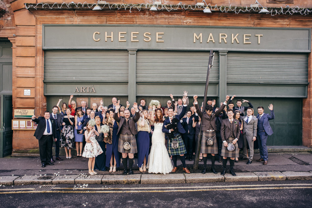 Group wedding picture Arta Glasgow