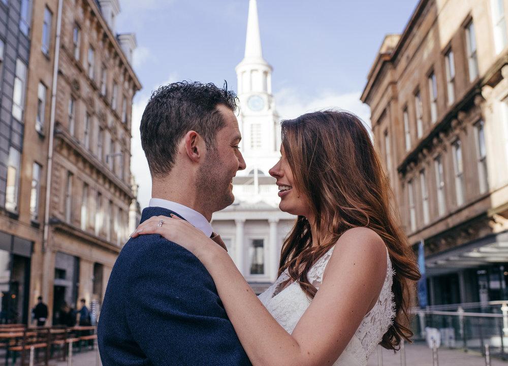 Merchant City Wedding Portraits