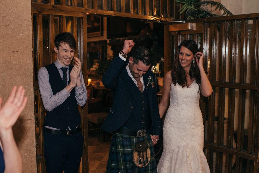 Bride and groom entrance Arta