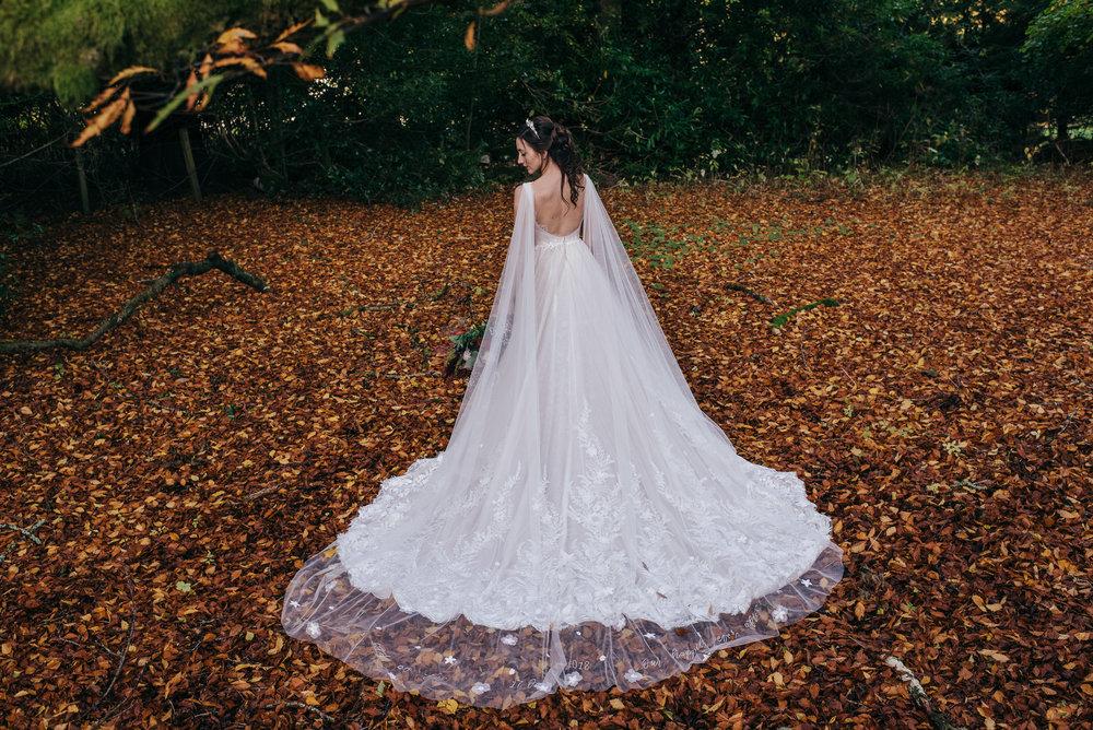 Back of wedding dress Dalduff farm