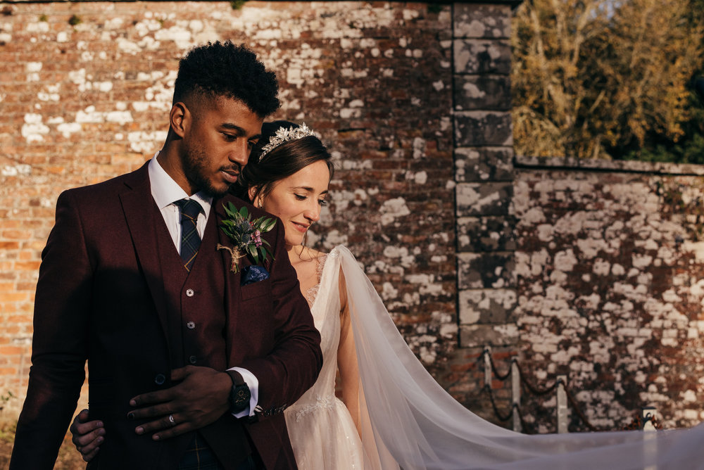 Bride and Groom portraits Blairquhan