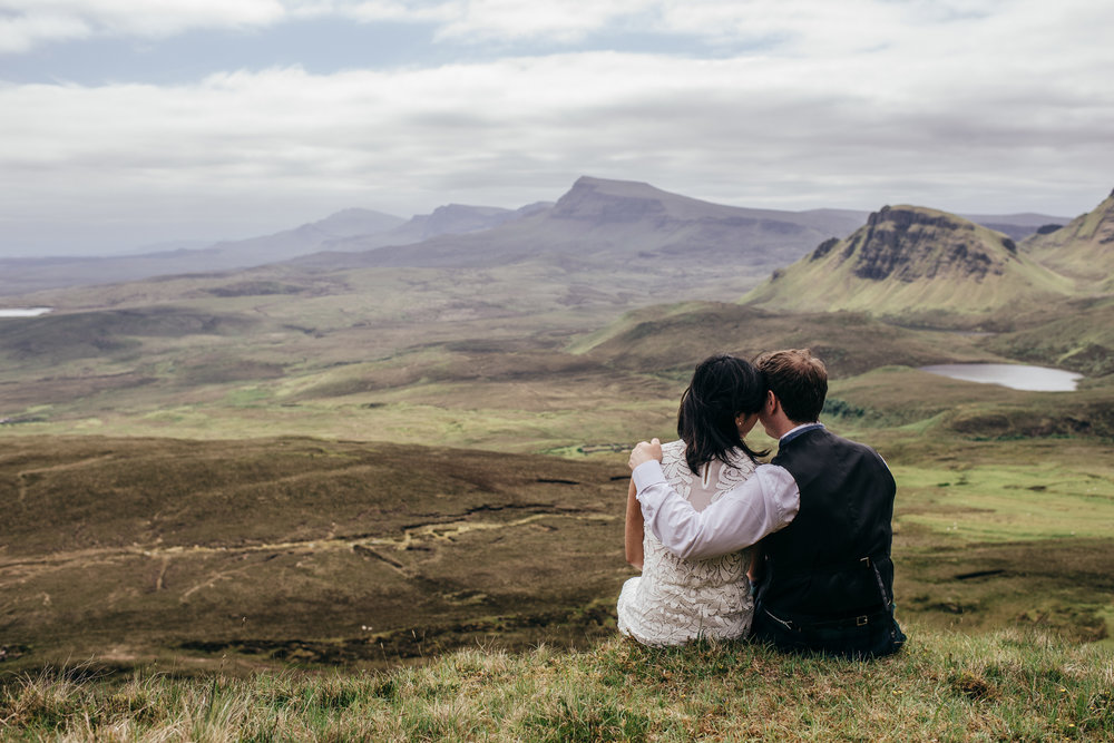 Bride and groom on Isle of Skye