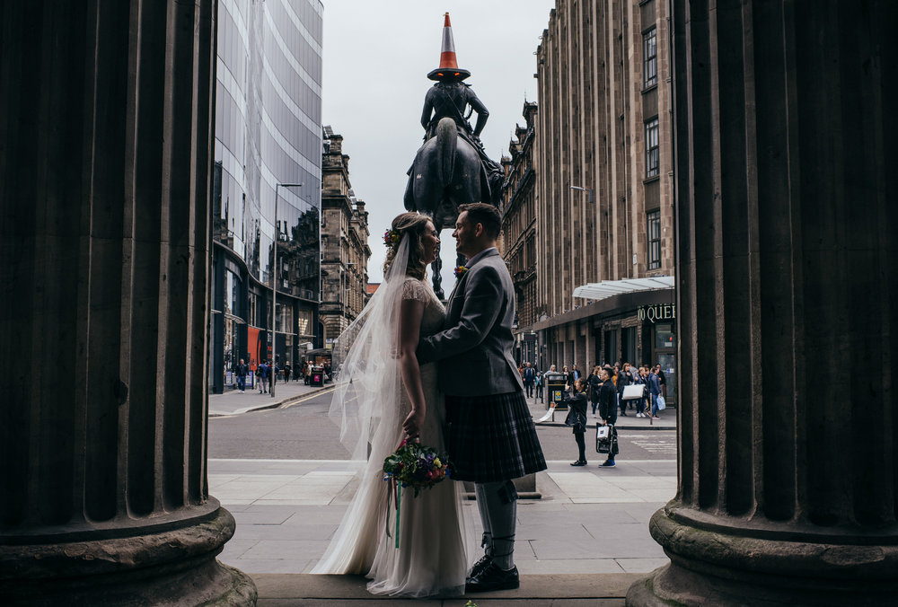 Glasgow Goma wedding portrait