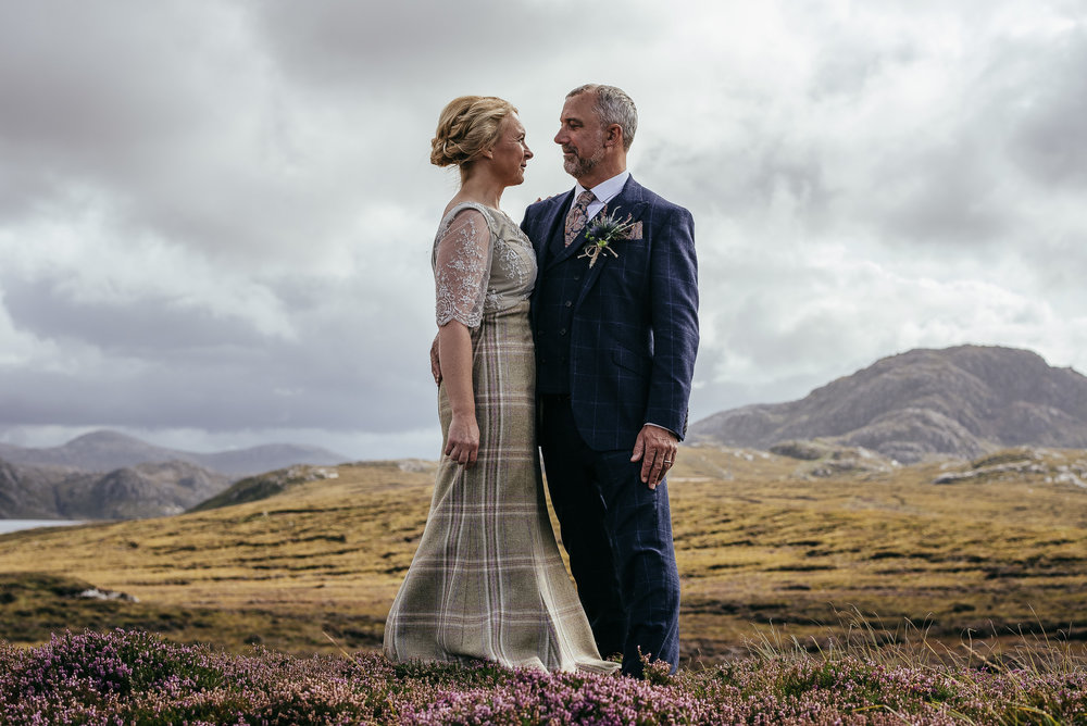 Isle of Lewis Wedding Portrait