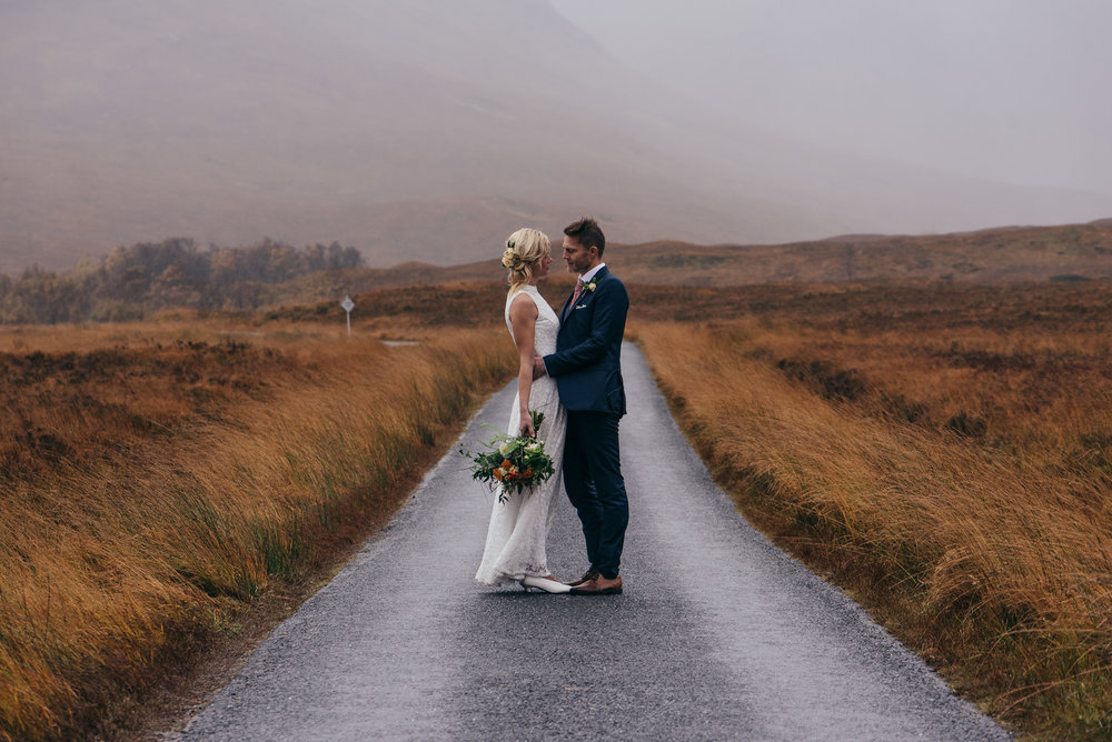 Glen Etive Elopement Portrait
