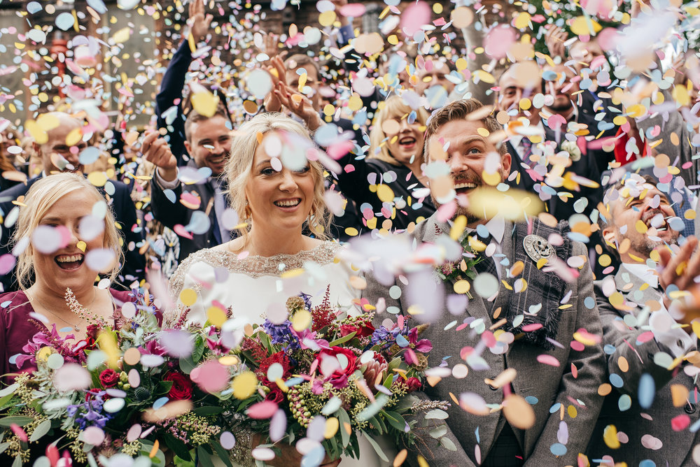 Wild and colourful confetti picture